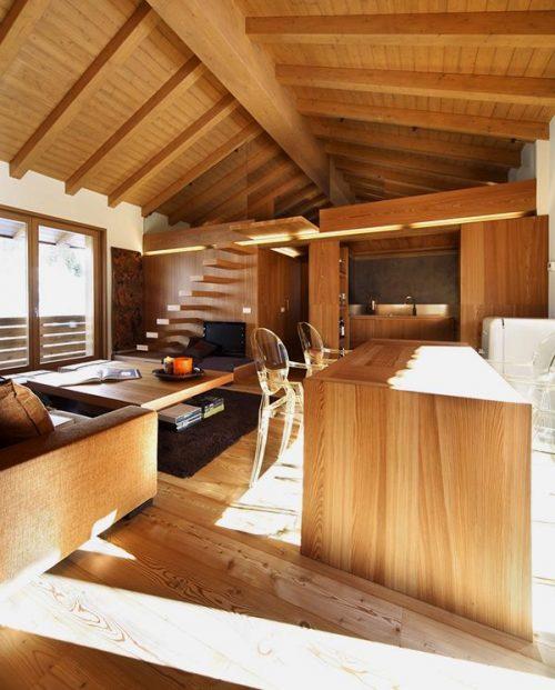 gác mái bằng gỗ